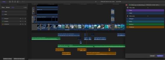 Meilleure gestion des rôles dans Final Cut Pro X version 10.3