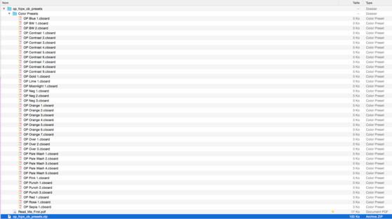 41 presets de correction couleur pour FCPXX 10.4
