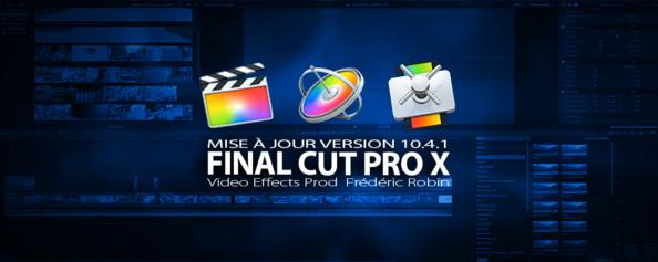 FCPX 10.4.1 : mise à jour avec Prores RAW et sous-titre avancés