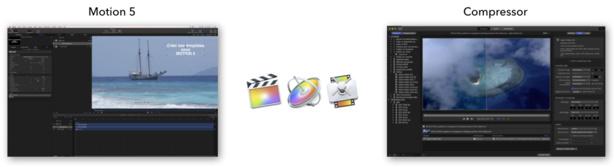La suite Apple pour le montage : FCPX, MOTION 5 ET COMPRESSOR