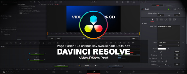 DaVinci Resolve : Page Fusion le Chroma Key