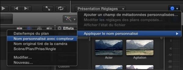 FCPX : renommer les clips par lot