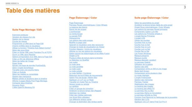 DaVinci Resolve : PDF de formation version 16.3