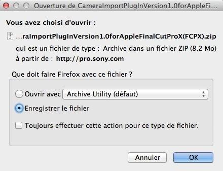 Travailler avec les fichiers MXF sous FCPX.