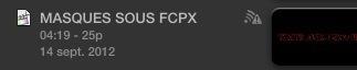 FCPX : Les icônes sur les projets