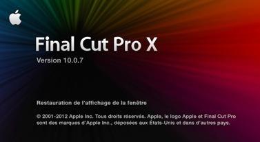 FCPX : Mise à jour version 10.0.7