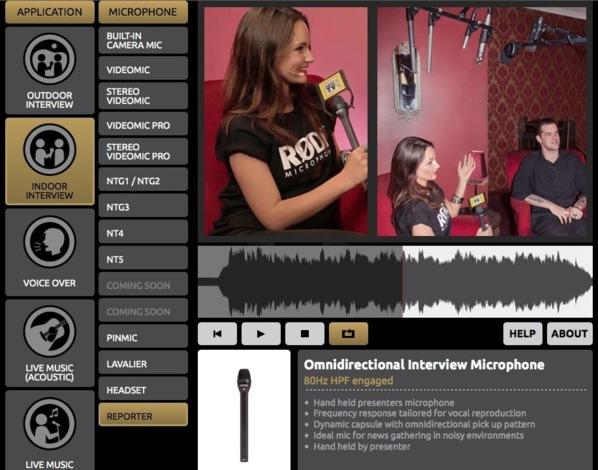 Tester et entendre les différents micros RODE