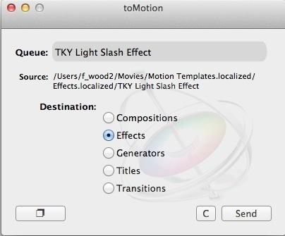 FCPX : installer ses templates avec toMotion