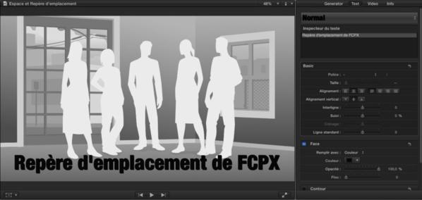 FCPX : Insérer des Espaces ou Repères d'emplacement