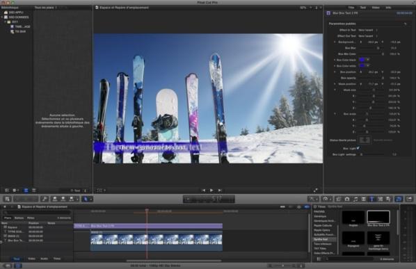 Template : Animation reflet flou de texte