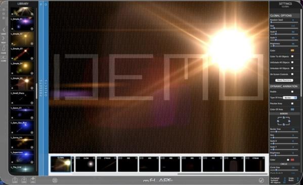 Motion 5 : mflare le plugin des lumières sous FCPX.