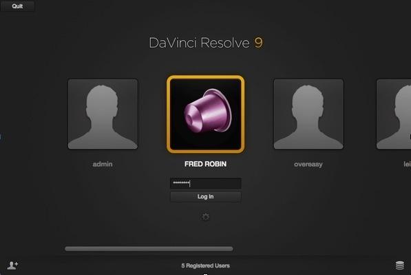DaVinvi Resolve Lite 9 : Valider les partitions connectées.