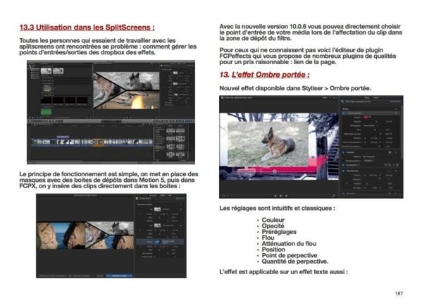 Gestion des splitscreen et l'effet ombre portée sous FCPX.