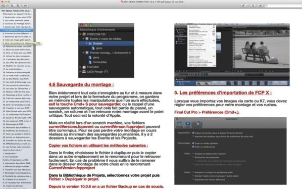 """Affichage de l'option"""" onglet"""" sous Aperçu de Mac Os X."""