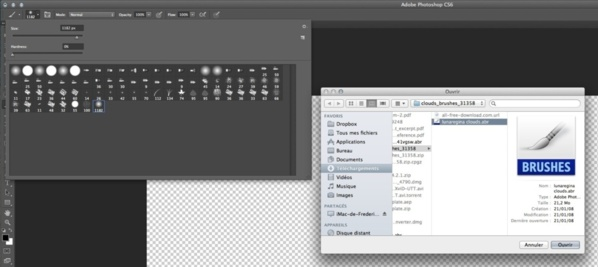 Photoshop : Installer et utiliser des brushes