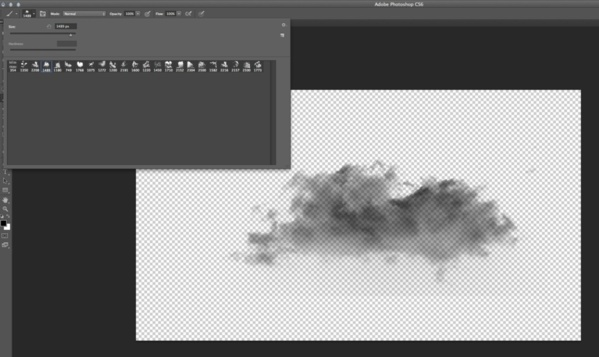 Création d'un PSD nuage.