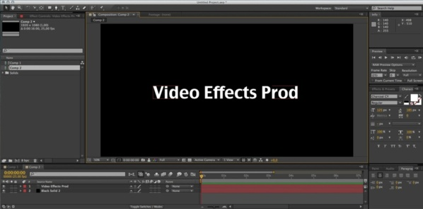 Créer un nouveau texte dans une composition sous After Effects CS6