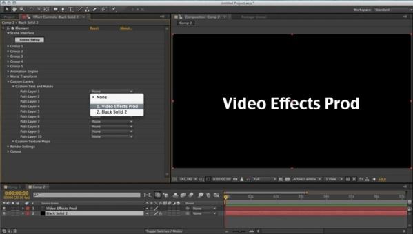 Affectation du texte dans 3D Element.