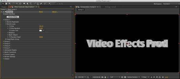 Création d'un texte 3D dans After Effects.
