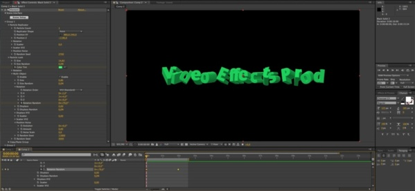 Animation Rotation Random, anime la rotation des lettres individuellement.