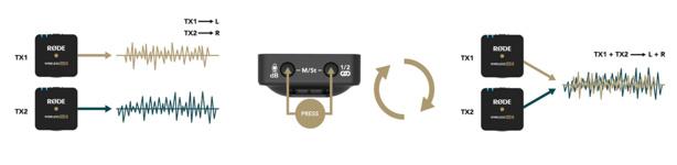 choix des pistes à enregistrer Wireless Go II