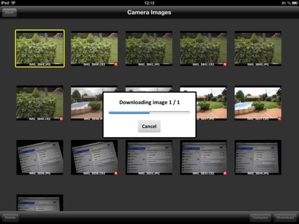 Importation d'images sur l'Ipad avec le CamRanger.