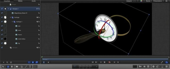 L'animation 3D dans Motion 5 avec les calques Caméra.