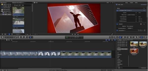 Interaction de Motion 5 vers FCPX.