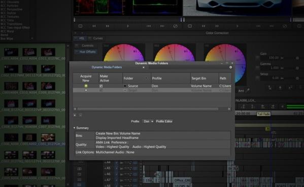La fonction Dynamic Media Folders gère les tâches de fond pendant votre montage.