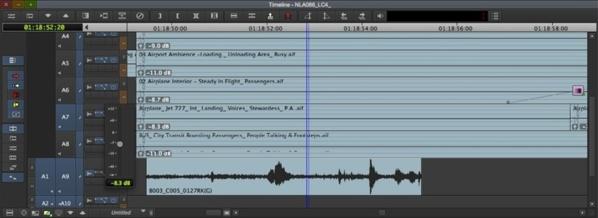 Gestion du son directement sur les clips grâce à l'option Clip Gain.