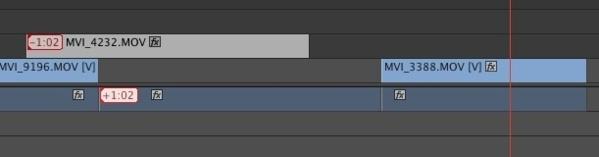 Déplacer tous les clips sans les liens avec la vidéo ou l'audio...