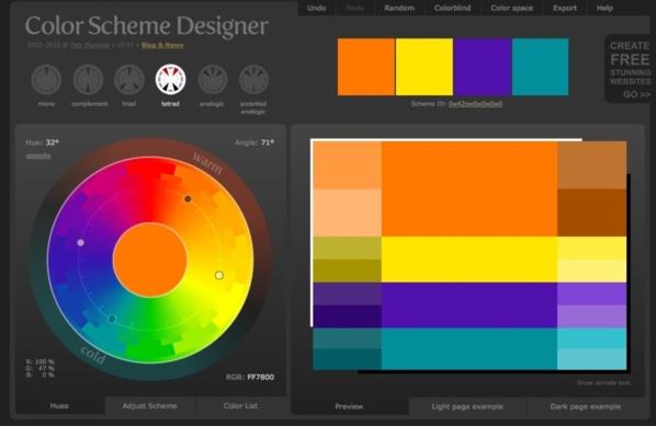 Site Web : Color Scheme Design...