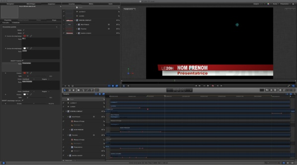 Template animation titre Journal de 20 heures de TF1.