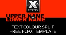 "idustrial revolution : free fcpx template ""Text Colour split"""