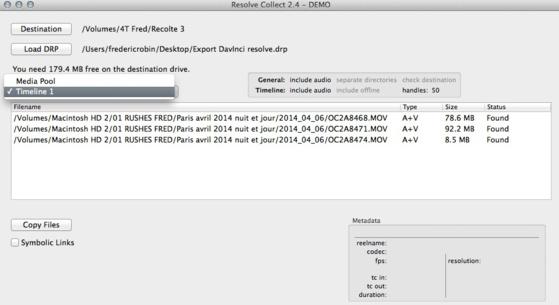 """Le logiciel """"Resolve Colect"""" en action."""