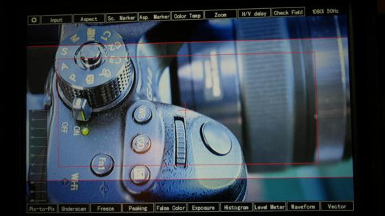 Afficher des barres scopes à l'écran lors d'un tournage.