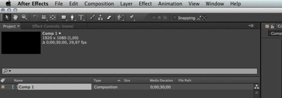 After Effects sera en anglais.