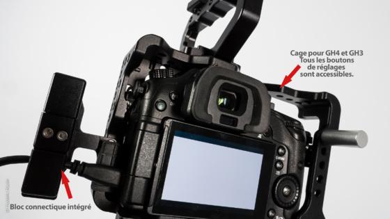 Clamps pour bloquer les connectiques de l'appareil...