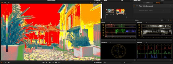 "Utilisation du ""False Color"" dans le DaVinci Resolve 11"