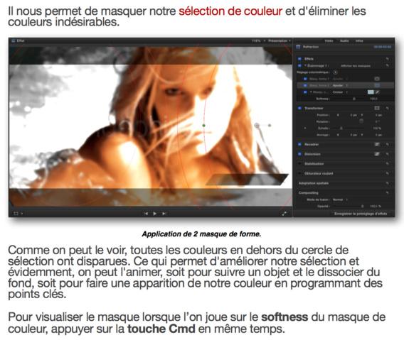 Utilisez les outils de FCPX 10.2