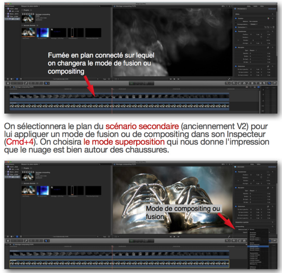 Créer des effets de compositing en mélangeant les images avec les modes de fusion