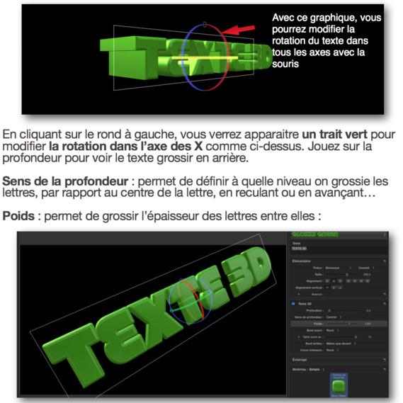 Créer des textes 3D avec FCPX 10.2