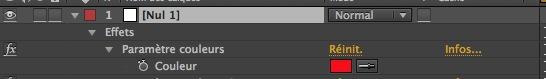 Options d'expressions : Paramètre couleurs.
