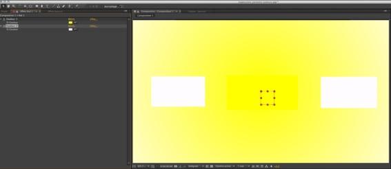 L'ensemble des couleurs sont gérées directement sur le calque objet Nul.