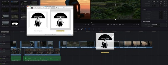 Drag and drop directement du finder vers la timeline pour importer un clip.