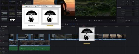 Drag and drop directement du finder vers la timeline pour importer un clip.