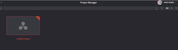Ouverture du Projet Manager.