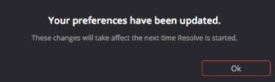 Le logiciel a pris en compte les changements pour la prochaine ouverture.