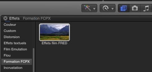 Nouvel effet créé dans FCPX 10.2