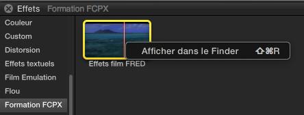 Révéler un effet dans le Finder avec la commande Shift+Cmd+R
